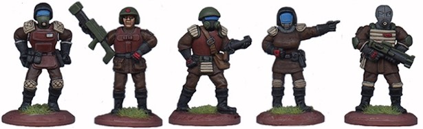 LHSCG01 - Space Cops Set of 5 figures