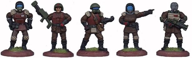 LHSCG01 - Space Cops Set of 5 figures